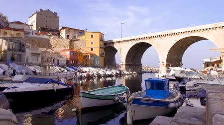 view of Marseille old harbor of Vallon des Auffes