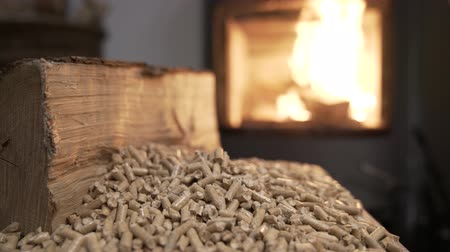 Wood Stove economy heating system video footage 4K Vídeos