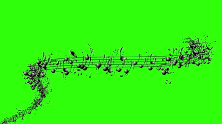 půltón : Animated background with musical notes, Music notes flowing, Flowing, flying stream of Music Notes Dostupné videozáznamy