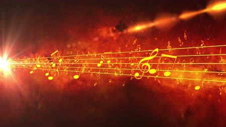 notes : Animated background with musical notes, Music notes flowing, flying stream of Music Notes - Seamless LOOP