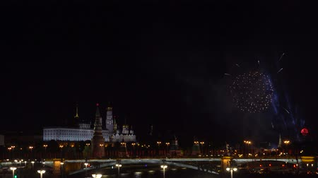 kreml : Fireworks in the center of Moscow at the Kremlin