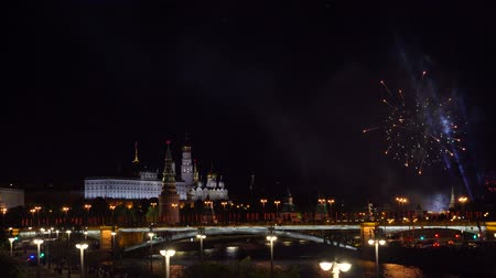 detonation : Fireworks in the center of Moscow at the Kremlin