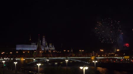 firecracker : Fireworks in the center of Moscow at the Kremlin