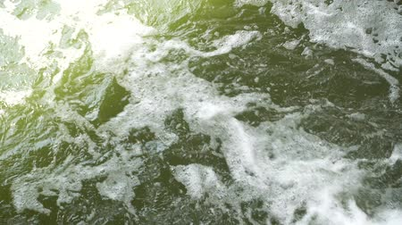 sputter : Beautiful green water in a mountain river