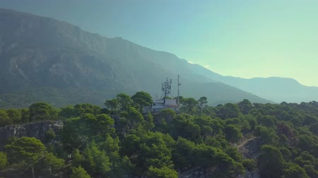 rivera : Croatia. Makarska. View of the coastal pine Park and the mountains from a height