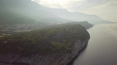 altura : Croatia. Makarska. View of the coastal pine Park and the mountains from a height
