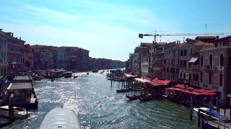 maria : Europe. Italy. Venice. Panoramic view of the Grand canal from the bridge on a Sunny summer day