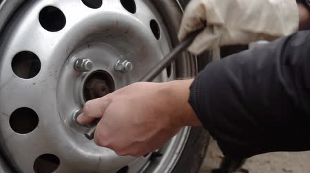 yedek : replacement wheels on the car on the road