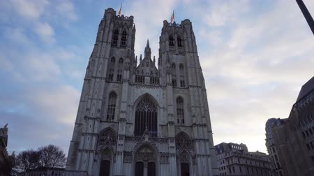 michael : Belgium. Brussels St. Michaels Cathedral timelapse