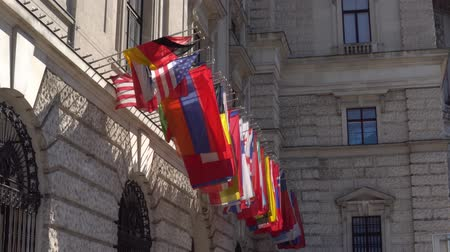multikulturális : Flags of the OSCE participating States on the headquarters building in Vienna