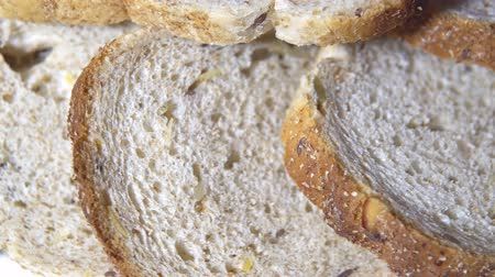 bagietka : Freshly baked white bread for lunch Wideo