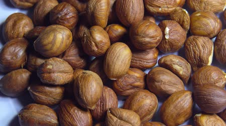 hazelnuts : Smooth rotation of hazelnut kernels close-up