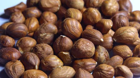 очищенные : Smooth rotation of hazelnut kernels close-up