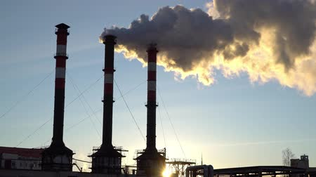 emissions : Air pollution from industrial plant pipes
