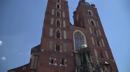 cracovie : Cracovie Pologne juin 2019. Basilique Sainte-Marie au centre de la vieille ville