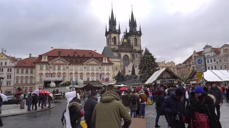 Čechy : Czechia. Prague December 2018. Christmas fair and Christmas tree