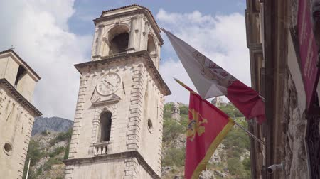 балканский : Montenegro, Kotor. Old town. View of the clock tower
