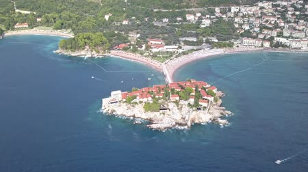 st stephen : Montenegro Budva. View of the island in the form of the heart of St. Stephen. island hotel