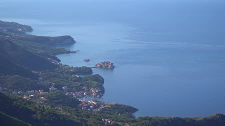 st stephen : View from afar on the island-hotel Sveti Stefan in Montenegro