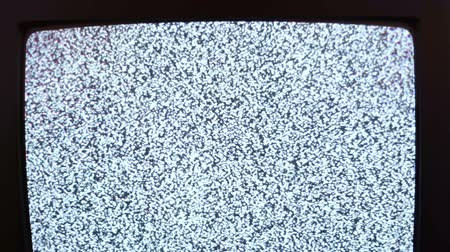 hiss : Television static noise black white Stock Footage