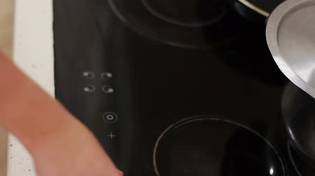 cooktop : Induction stove top panel, closeup
