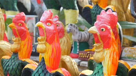 statuette : Figurines of cocks, a symbol of 2017 on the Chinese calendar
