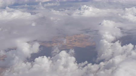 tibet : Stunning beauty floats over desert mountain landscape. Top view from an airplane. Stok Video