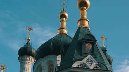 resurrection : Golden Dome of the Orthodox Church in Foros, Crimea