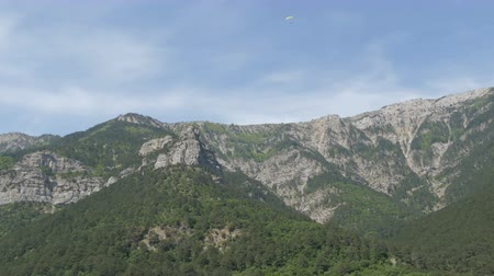 plateau : Beautiful majestic rocky Crimean mountains not far from the Foros Stock Footage