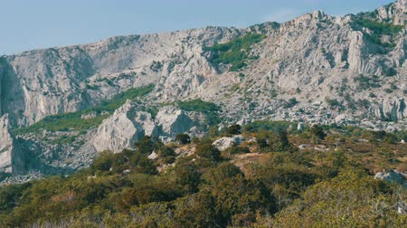 krym : Beautiful majestic rocky Crimean mountains not far from the Foros Wideo