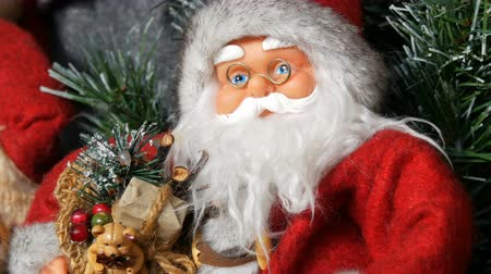 nuremberg : The toy doll of Santa Claus, who is standing as decoration for the Christmas and new year close up view