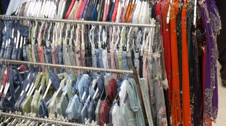 rastrelliera : Fashion and Shopping Concept. Colorful Womens Clothes on the Hangers