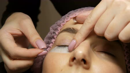 longer : Professional procedure for laminating and Botox eyelashes modern healing. Special patches under the eyes