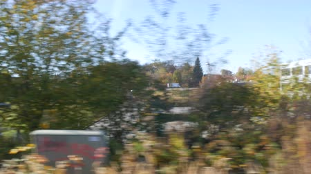 bavorské : View from the train window on typical Bavarian villages and houses Dostupné videozáznamy