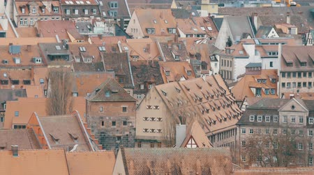 bajor : National authentic German red roofs in Nuremberg, Bavaria, Germany.