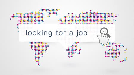 praca : job search worldwide with a map on the background