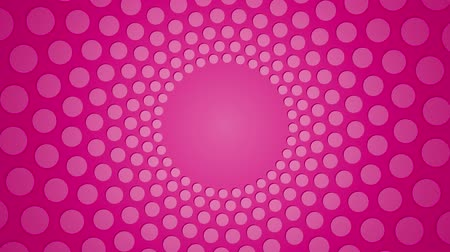pink : rotating pink circular background with polka dots