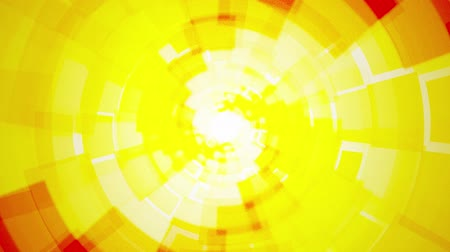 keverék : Modern rotating abstract light yellow orange background with rectangles Stock mozgókép