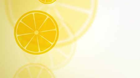 cytryna : falling and rotating lemon slices Wideo