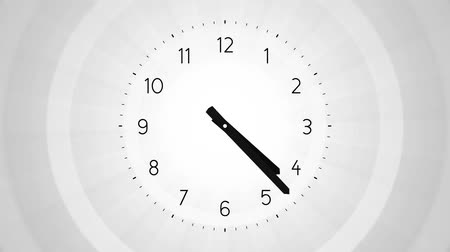 minute hand : simple clock on gray background endless loop