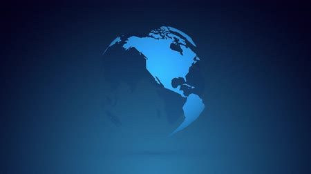 infinito : globe planet earth rotating on dark blue background Stock Footage