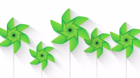 ventilátor : green pinwheel background loop animation