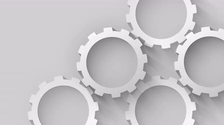chrom : silver gears technology concept gray background Wideo