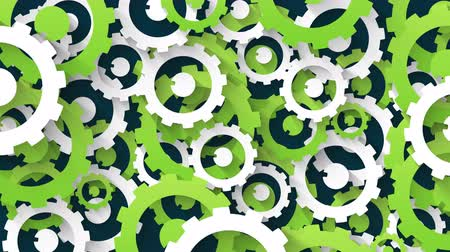 güncelleştirme : abstract system industrial technology concept green and white gears background loop animation Stok Video