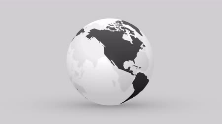 continent : abstract black globe animation Stock Footage