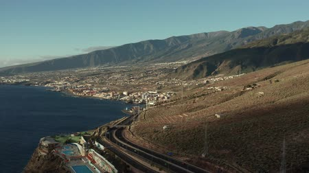 canário : Road near the quay from top point of view Stock Footage