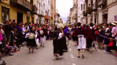 equador : Cuenca, Ecuador  December 24, 2016 - Dancing in Paseo de Nino Parade 2016