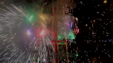 vonk : Cuenca, Ecuador  -  20180602  -  Fireworks Castle  -  Pan Across Pinwheels with Sound