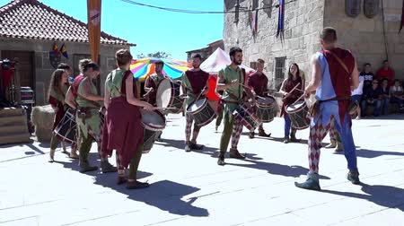 percussão : Penedono, Portugal - 20170701 - Medieval Fair  -  Drum Corp w - Sound Stock Footage