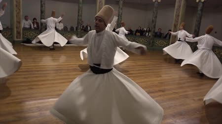 whirling : Whirling Dervish Demonstration Dancers Third Act Stock Footage
